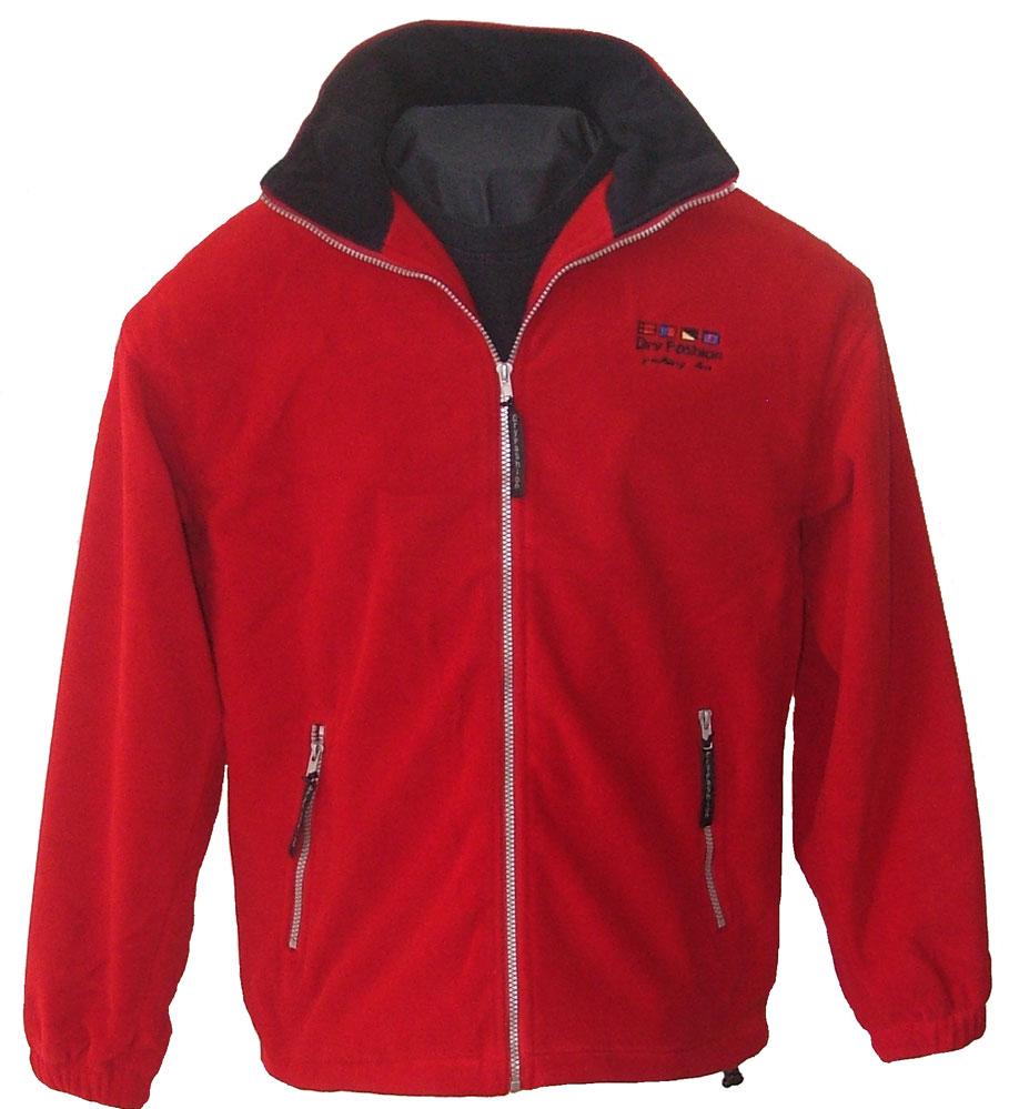 9c6a50b5 Fleece Windstopper jakke rød