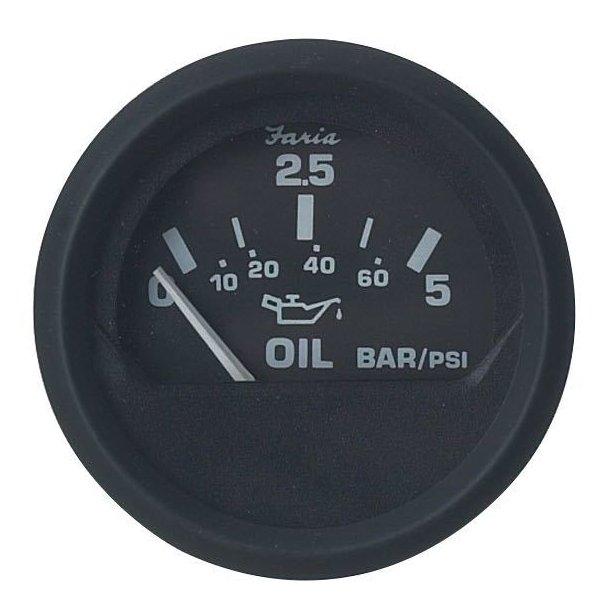 Faria Olietryksmåler 5 bar sort